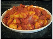 Potatas Bravas with Chorizo